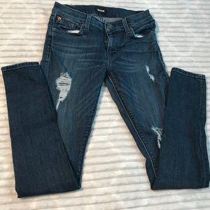 Hudson Krista Super Skinny Distressed Jeans sz 25